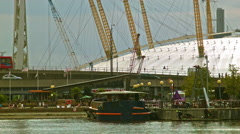 DLR passes in front of the O2 arena Stock Footage
