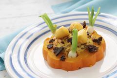 munchkin pumpkin appetizer - stock photo