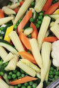 Prepared seasonal vegetables Stock Photos