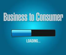 Stock Illustration of business to consumer loading bar sign concept