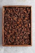 star anise spice - stock photo