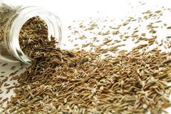 Dried cumin seeds Stock Photos