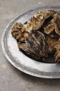 Prepared fresh shellfish seafood Stock Photos