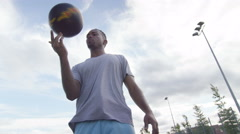 4K Portrait of young sports player showing off his ball control skills.  Stock Footage