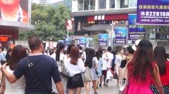 Shenzhen East Gate Commercial Street Landscape Stock Footage