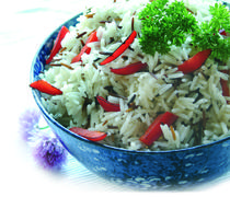 wild and long grain rice - stock photo
