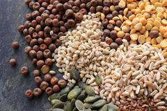 pasta grain pulses - stock photo