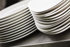 Plates and crockery Stock Photos