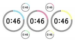 Countdown Animation Intro, Sixty Seconds, Black Numbers Stock Footage