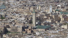 Fez, Morocco cityscape wide Stock Footage