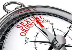 sexual orientation concept compass - stock illustration