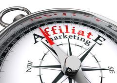 Affiliate marketing conceptual compass Stock Illustration