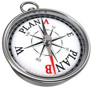 plan b direction conceptual compass - stock illustration