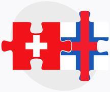 Switzerland and Faroe Islands Stock Illustration