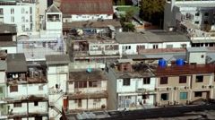 poor city ghetto poverty old destroyed buildings city centre area asia 4k - stock footage
