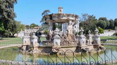 man running in a park, Villa Doria Pamphilj, rome - stock footage