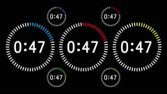 Countdown Animation Intro, Sixty Seconds, White Numbers Stock Footage