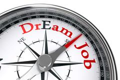 Dream job the way indicated by concept compass Stock Illustration