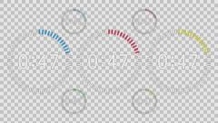 Countdown Animation Intro, Sixty Seconds, White Numbers with Alpha - stock footage
