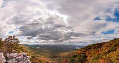 Appalachian Mountain Autumn Landscape Stock Photos
