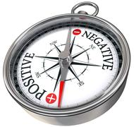 positive negative concept compass - stock illustration