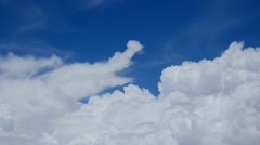 Clouds from Airplane cumulus fluffy blue sky white big clouds 4k Stock Footage