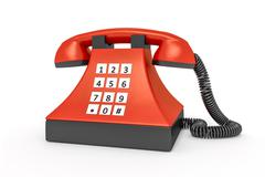 Old style red telephone Stock Illustration