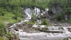 Waterfall Siebenbrunnen Switzerland - stock footage