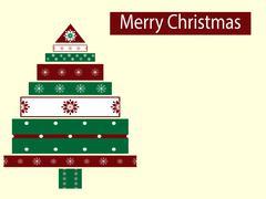Holiday box Christmas tree new year - stock illustration
