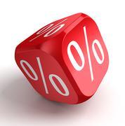 Per cent conceptual red dice Stock Illustration