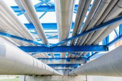 Pipeline of oil depot Stock Photos