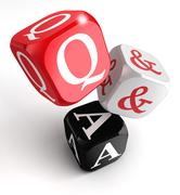 questions and answers - stock illustration