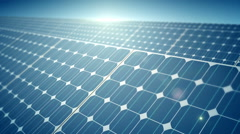 Solar Panel and the sun reflection - stock footage
