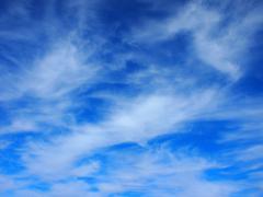 Background of white cirrus clouds - stock photo