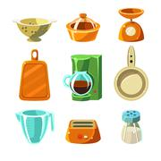Kitchen Utensils Vector Illustration Stock Illustration