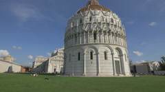 The famous Baptistery of St John in Pisa Stock Footage