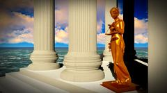 Themis - lady of justice in court Stock Illustration