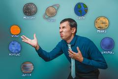 nausea a businessman reached out wrinkled aversion planets of th - stock photo