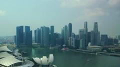 Singapore panoramic view #2 - stock footage