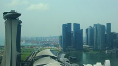 Singapore panoramic view Stock Footage