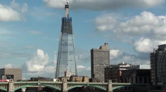 The Shard London Under Construction Stock Footage