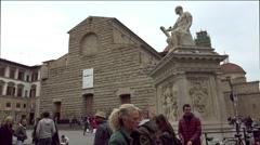 ULTRA HD 4K real time shot,the San Lorenzo basilica, street view Stock Footage