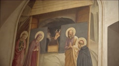 ULTRA HD 4K real time shot,painting in The monastery of San Marco in Florence Stock Footage