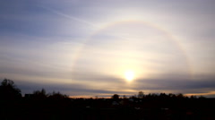 Stock Video Footage of Beautiful the Sun Halo (Circumscribed Halo)