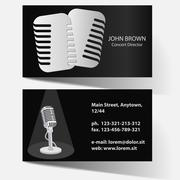 Business card with microphone Stock Illustration