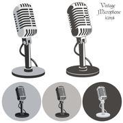 Vintage microphone Piirros
