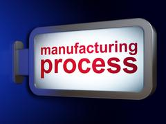 Manufacuring concept: Manufacturing Process on billboard background Piirros