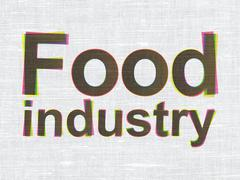 Industry concept: Food Industry on fabric texture background Stock Illustration