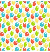 Seamless bright fun celebration festive air balloons pattern iso Stock Illustration