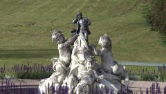 Imperial fountain in Austria (Kaiservilla, Bad Ischl) - stock footage
